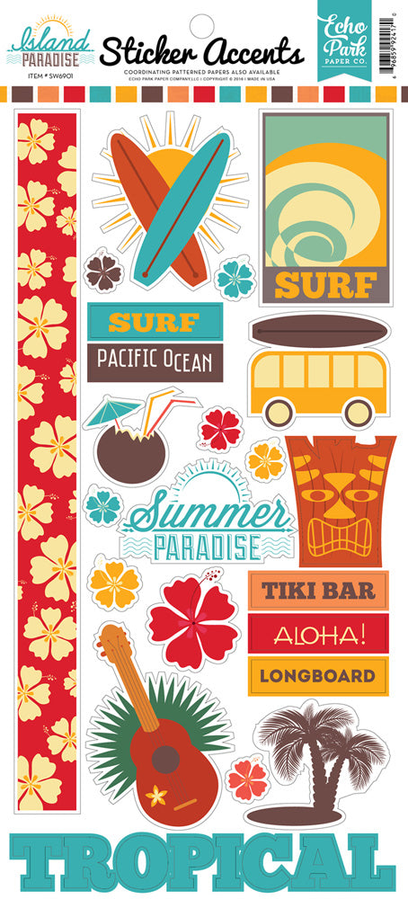 Echo Park Cardstock Stickers - Island Paradise