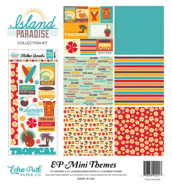 Echo Park Mini Theme Collection Kit - Island Paradise
