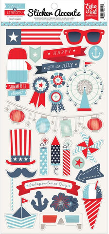 Echo Park Cardstock Stickers - Sweet Liberty