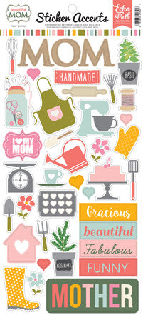 Echo Park Cardstock Stickers - Beautiful Mom