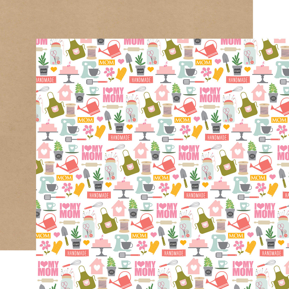 Echo Park Papers - Beautiful Mom - I Love My Mom - 2 Sheets