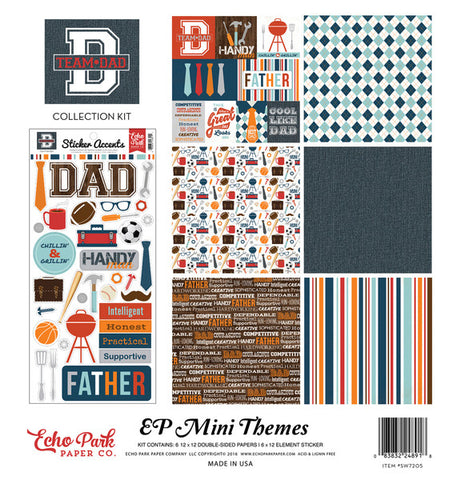 Echo Park Mini Theme Collection Kit - Team Dad