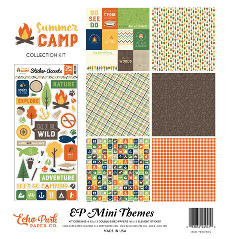 Echo Park Mini Theme Collection Kit - Summer Camp