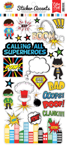 Echo Park Cardstock Stickers - Super Hero
