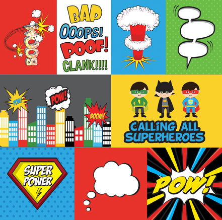 Echo Park Cut-Outs - Super Hero - Journaling Cards