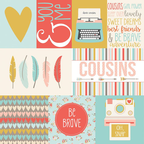 Echo Park Cut-Outs - Girl Cousins - Journaling Cards