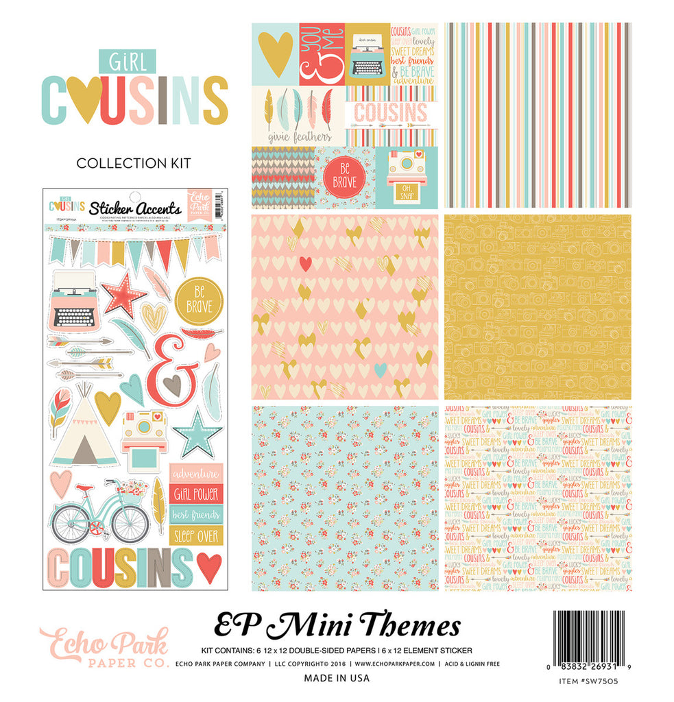 Echo Park Mini Theme Collection Kit - Cousins - Girl