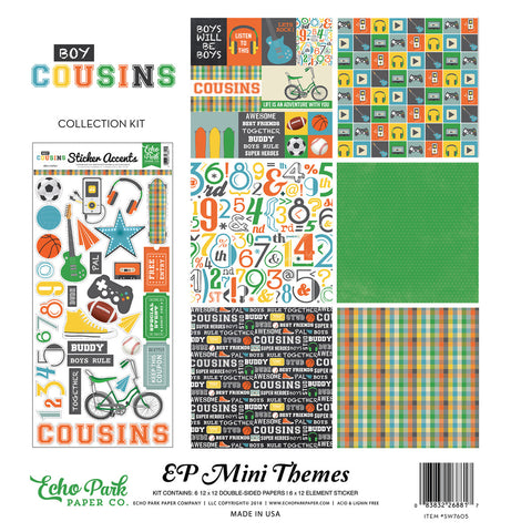 Echo Park Mini Theme Collection Kit - Cousins - Boy