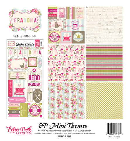 Echo Park Mini Theme Collection Kit - Grandma
