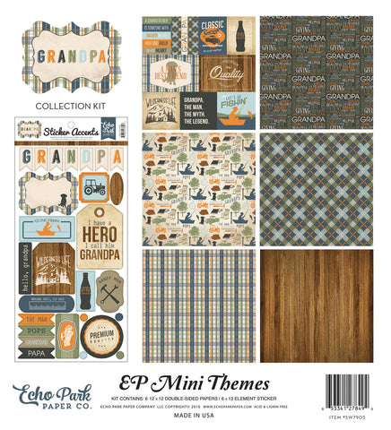 Echo Park Mini Theme Collection Kit - Grandpa