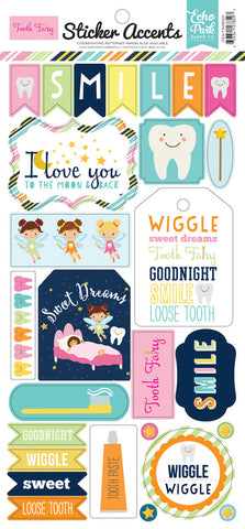 Echo Park Cardstock Stickers - Tooth Fairy