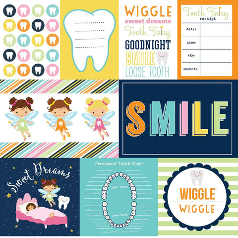 Echo Park Cut-Outs - Tooth Fairy - Journaling Cards