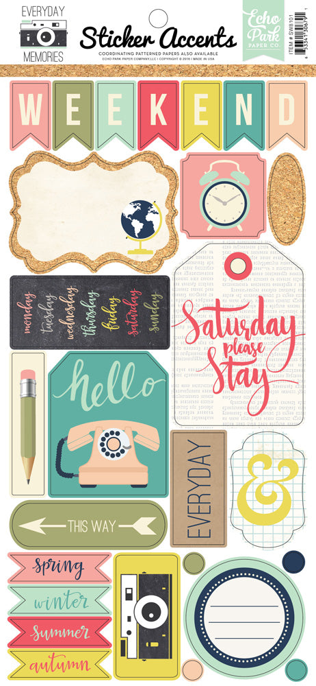 Echo Park Cardstock Stickers - Everyday Memories