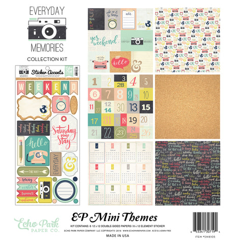 Echo Park Mini Theme Collection Kit - Everyday Memories