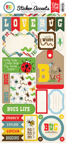 Echo Park Cardstock Stickers - Bug