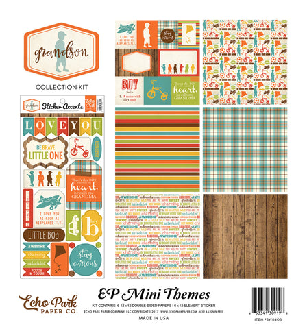 Echo Park Mini Theme Collection Kit - Grandson