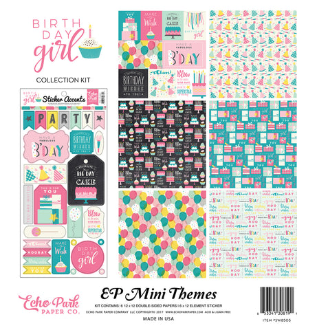 Echo Park Mini Theme Collection Kit - Birthday Girl