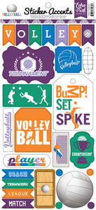 Echo Park Cardstock Stickers - Volleyball
