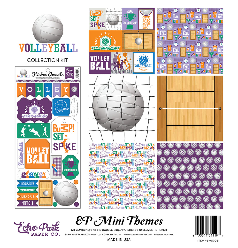 Echo Park Mini Theme Collection Kit - Volleyball