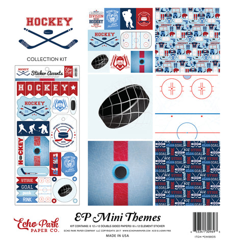 Echo Park Mini Theme Collection Kit - Hockey