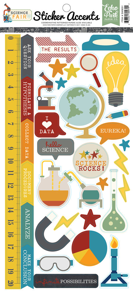 Echo Park Cardstock Stickers - Science Fair