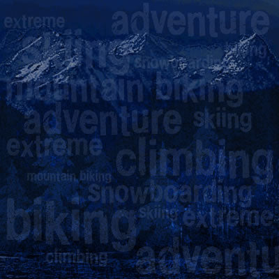 Reminisce Papers - The Great Outdoors - Extreme Adventure - 2 Sheets