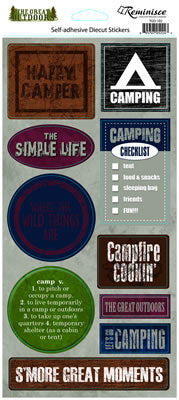 Reminisce Stickers - The Great Outdoors - Happy Camper