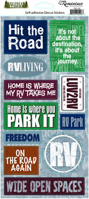 Reminisce Stickers - The Great Outdoors - Hit the Road