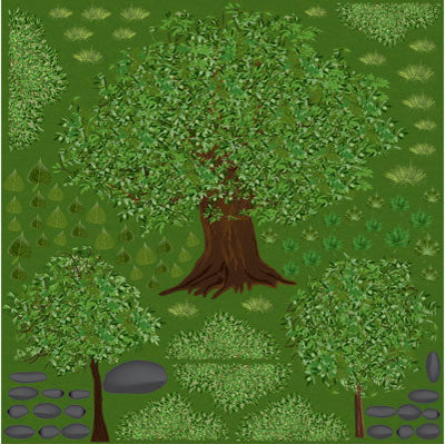 Reminisce 12x12 Cardstock Stickers - The Great Outdoors - Trees
