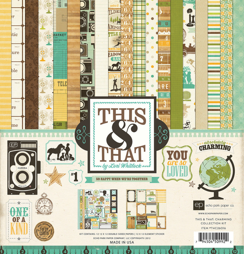 Echo Park Collection Kit - This & That - Charming