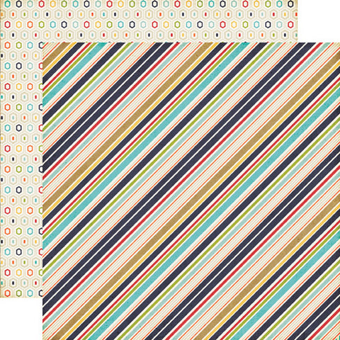 Echo Park Papers - That's My Boy - Boy Stripes - 2 Sheets