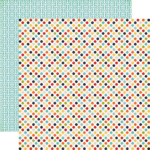 Echo Park Papers - That's My Boy - Boy Dots - 2 Sheets