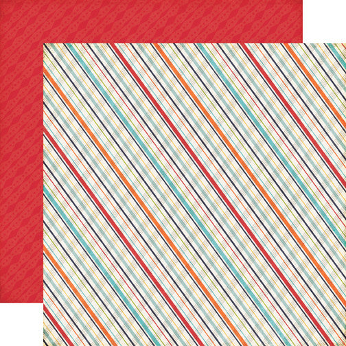Echo Park Papers - That's My Boy - Plaid - 2 Sheets