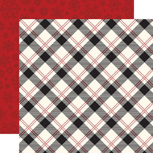 Echo Park Papers - Twas the Night Before Christmas - Present Plaid - 2 Sheets
