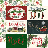 Echo Park Cut-Outs - Twas the Night Before Christmas - Horizontal 4x6 Journaling Cards