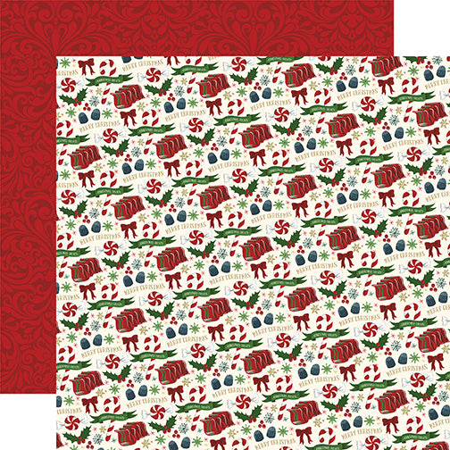 Echo Park Papers - Twas the Night Before Christmas - Candy Christmas - 2 Sheets