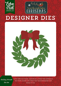 Echo Park Designer Dies - Twas the Night Before Christmas - Holiday Wreath Die Set