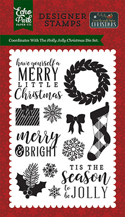 Echo Park Clear Stamp Set - Twas the Night Before Christmas - Holly Jolly Christmas