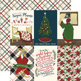Echo Park Cut-Outs - Twas the Night Before Christmas - Vertical 4x6 Journaling Cards