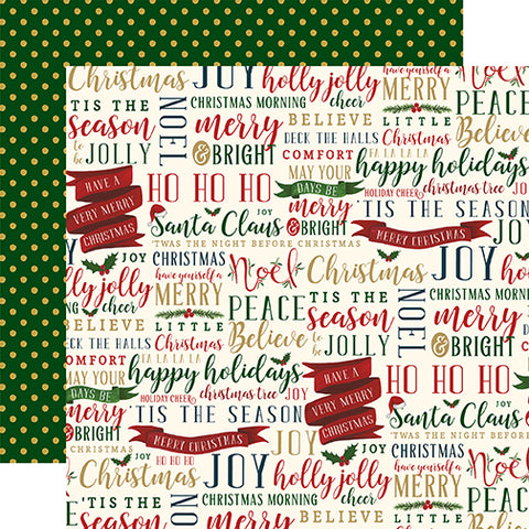 Echo Park Papers - Twas the Night Before Christmas - Tis The Season Words - 2 Sheets