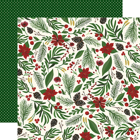 Echo Park Papers - Twas the Night Before Christmas - Berry Christmas - 2 Sheets