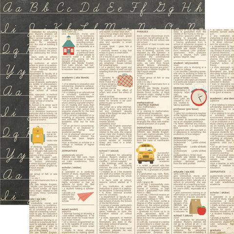 Echo Park Papers - Teacher's Pet - Dictionary - 2 Sheets