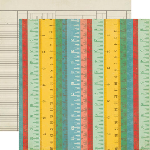 Echo Park Papers - Teacher's Pet - Rulers - 2 Sheets