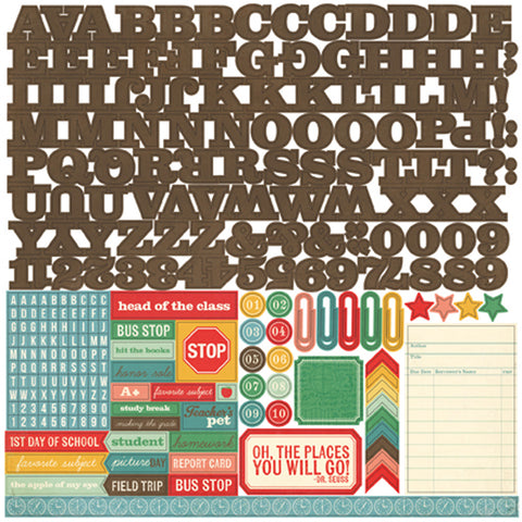 Echo Park 12x12 Cardstock Stickers - Teacher's Pet - Alpha