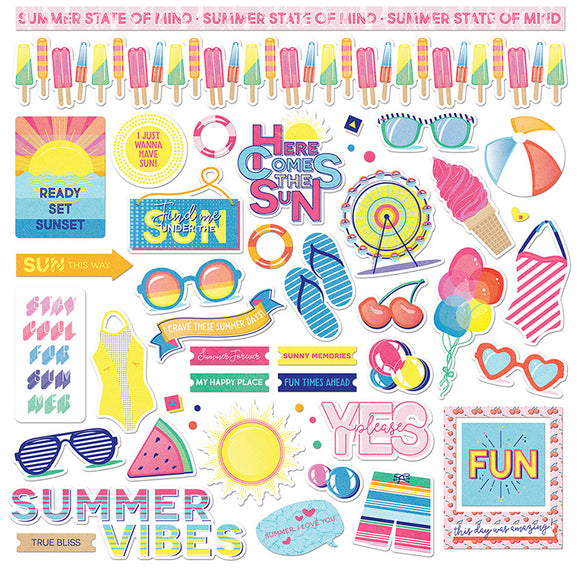 Photo Play 12x12 Cardstock Stickers - Those Summer Days - Elements