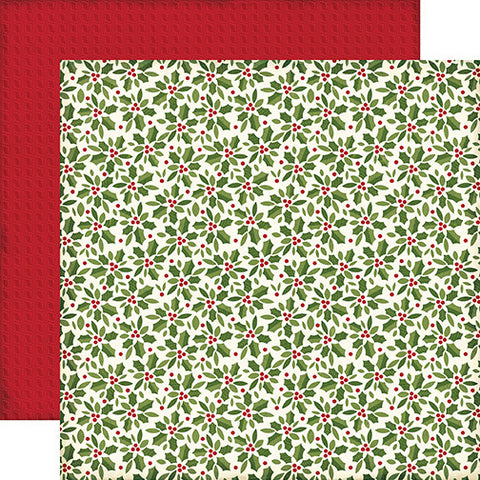 Echo Park Papers - The Story of Christmas - Holly - 2 Sheets