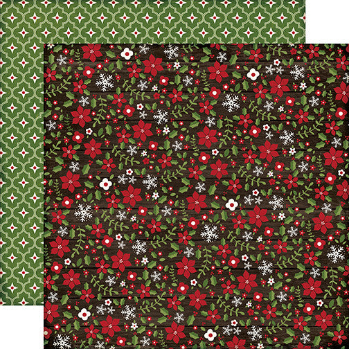 Echo Park Papers - The Story of Christmas - Flowers - 2 Sheets