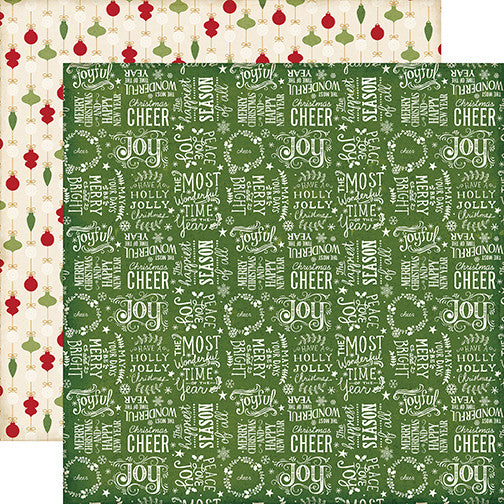 Echo Park Papers - The Story of Christmas - Words - 2 Sheets