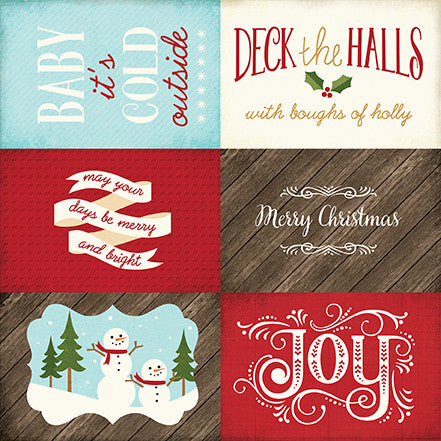 Echo Park Cut-Outs - The Story of Christmas - 4x6 Journaling Cards