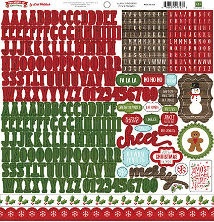 Echo Park 12x12 Cardstock Stickers - The Story of Christmas - Alpha